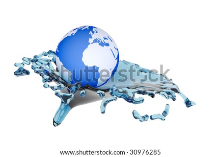 concept water stream and earth
