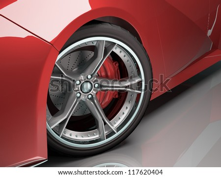 Concept wheel created and designed without bases in existing brands. - stock photo
