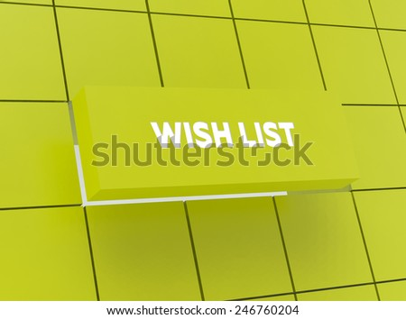 Concept WISH LIST - stock photo