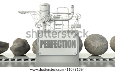Concept with imperfection and perfection in machine