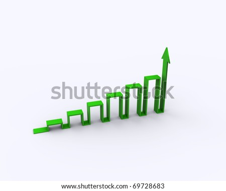 concept with the graph-chart - stock photo