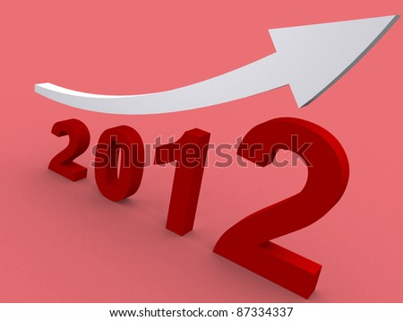 concept with the graph-chart. 3d illustration - stock photo