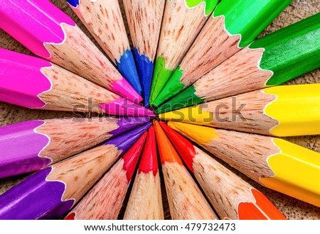 concept wooden crayon on wood background