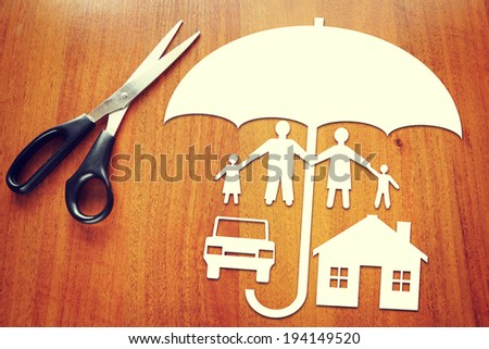 Conception of insurance - stock photo