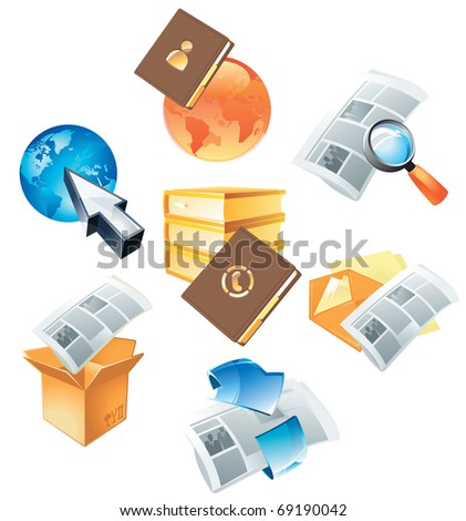 Concepts for information and media. Raster version. Vector version is also available. - stock photo
