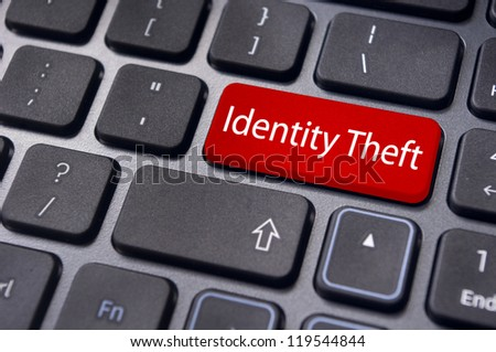 concepts of identity theft in internet. - stock photo