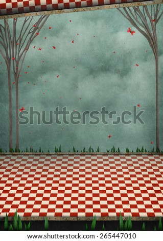 Conceptual  background  for  poster or cover - stock photo