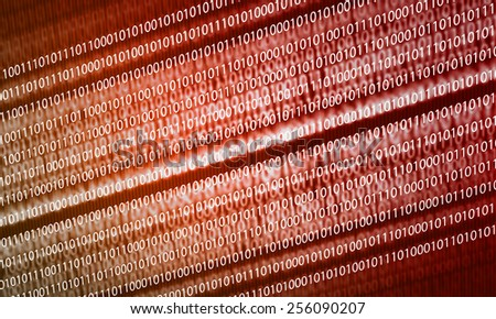 Conceptual background image with binary code. Safety concept