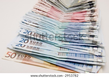 Conceptual background to success and money. Rich colors, Euro currency Has been used on several high profile web sites.