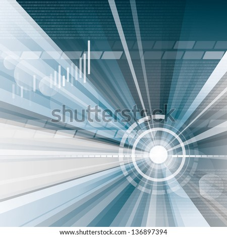 conceptual business virtual background with charts - stock photo