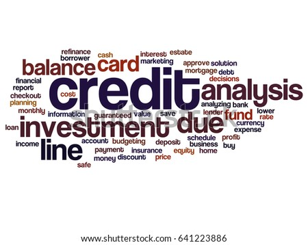 Conceptual credit card line investment balance stock illustration conceptual credit card line investment balance abstract word cloud isolated background collage of money analysis reheart Images