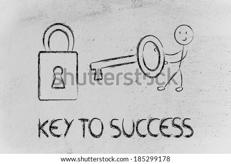 conceptual design about how to overcome issues and find success - stock photo