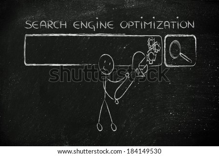 conceptual design about search engine optimization - stock photo
