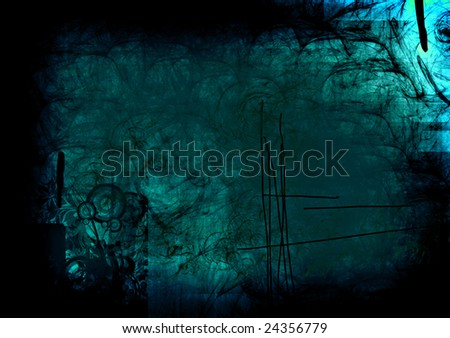 conceptual dirty blue with bright effects. abstract illustration