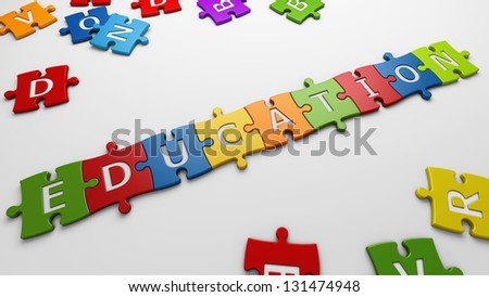 conceptual education - stock photo