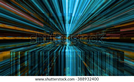 Conceptual futuristic technology digital light abstraction. High resolution illustration 10800. - stock photo