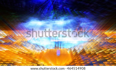 Conceptual futuristic technology digital light abstraction. High resolution illustration 10931.