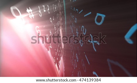 Conceptual futuristic technology digital light abstraction. High resolution illustration 10956.