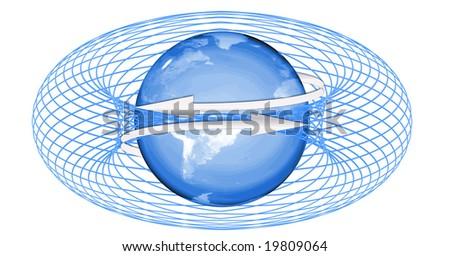 conceptual graphic illustration 'world wide web' - stock photo