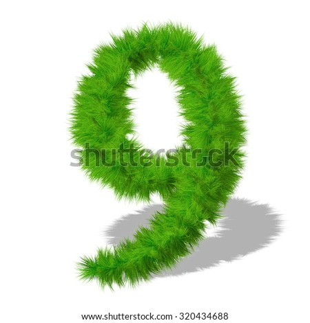 Conceptual green grass, eco or ecology font, part of a set or collection on white background for nature, summer, spring, alphabet, ecology, environment, plant, winter, ecological, conservation design