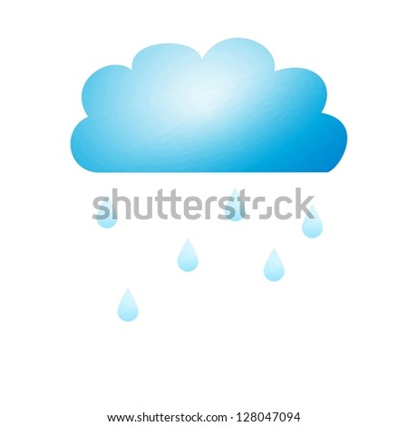 Conceptual illustration of rain clouds on a plane background