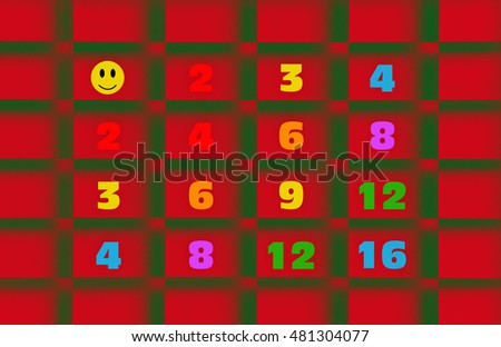 Conceptual illustration representing multiplication of numbers