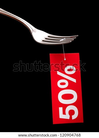 Conceptual image about discounts at restaurants... - stock photo