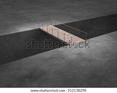 conceptual image concerning risk, danger, credits and integration - stock photo