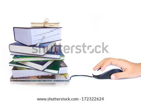 Conceptual image electronic digital book. - stock photo