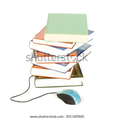 Conceptual image for modern internet education. - stock photo