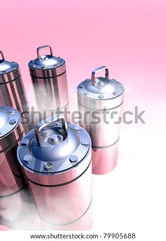 Conceptual image of a cryogenic canisters which would hold in cryogenic suspension human organs