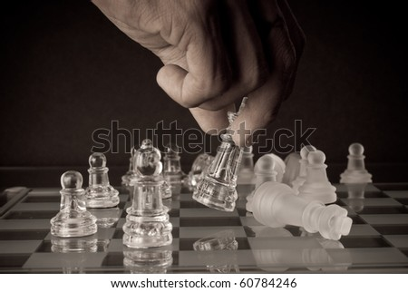 Conceptual Image of a Making The Final Move