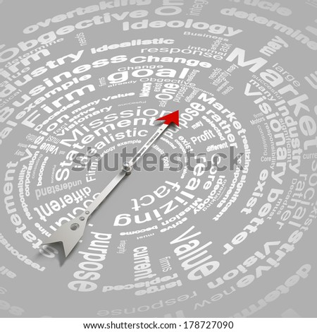 Conceptual image of compass pointing the direction - stock photo