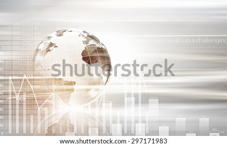 Conceptual image of modern business and technology with Earth planet