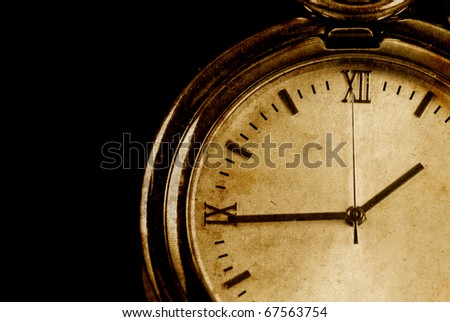 Conceptual Image of Time Passing in Grunge Texture