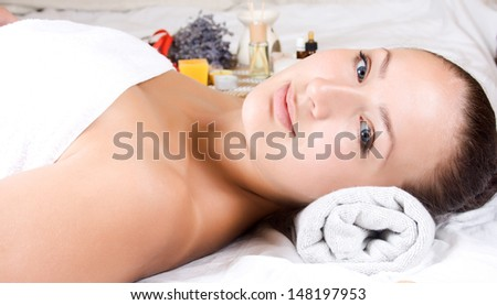 Conceptual image of wellness and beauty treatment.