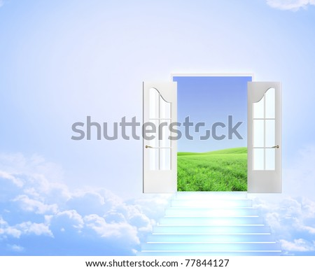 Conceptual image - road to dream - stock photo