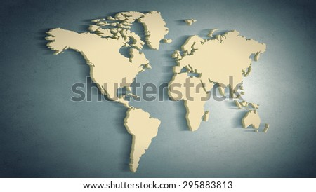Conceptual image world map on concrete stock illustration 295883813 conceptual image with world map on concrete wall gumiabroncs Image collections