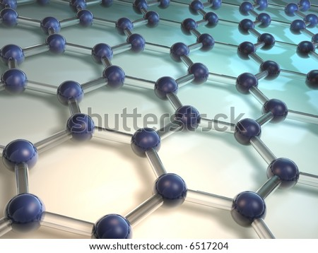 Conceptual model of molecular structure - rendered in 3d