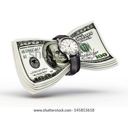 conceptual money sign isolated on a white background