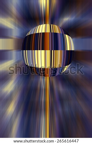 Conceptual multicolored abstract of a planet with imitation bar codes like a global product