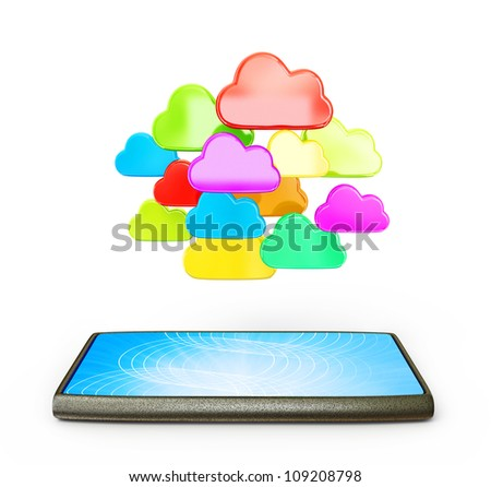 conceptual object isolated on a white background - stock photo