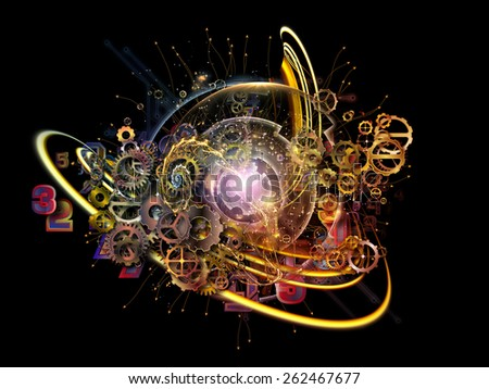 Conceptual Particle series. Abstract design made of fractal and conceptual elements on the subject of science, information technology and design