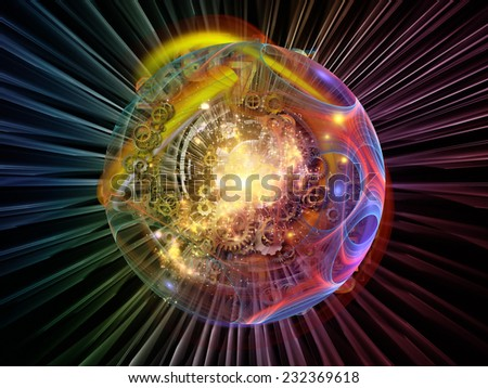 Conceptual Particle series. Background design of fractal and conceptual elements on the subject of science, information technology and design - stock photo