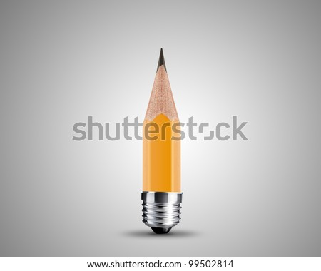conceptual pencil image, Sharpened Yellow pencil isolated on white background. - stock photo