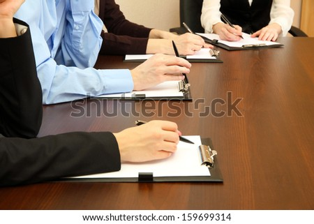 Conceptual photo of business conference