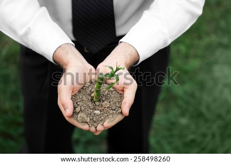 Conceptual photo representing business and nature.