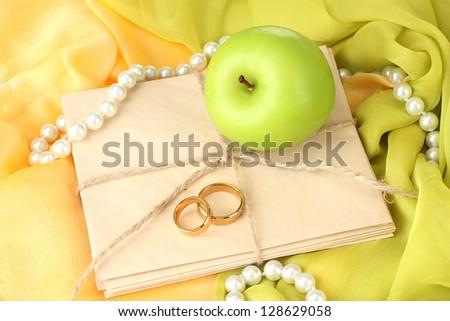 Conceptual photo wedding in apple style - stock photo