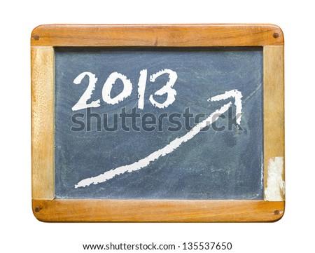 Conceptual pic: economic recovery 2013 - stock photo