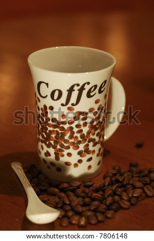 conceptual picture of a coffe cup